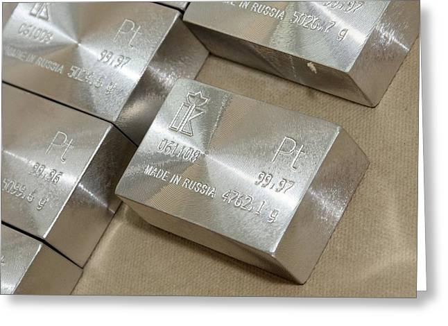 Platinum Bars Greeting Card