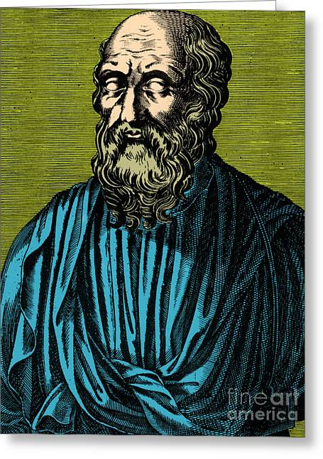 Plato, Ancient Greek Philosopher Greeting Card by Photo Researchers