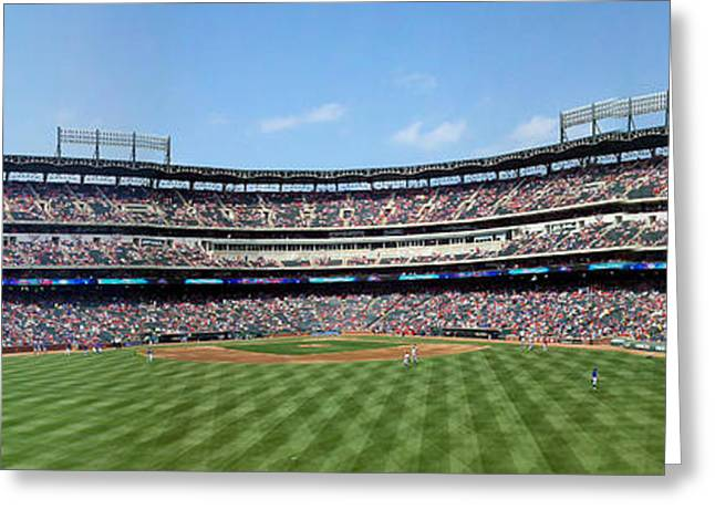 Globe Life Park, Home Of The Texas Rangers Greeting Card by Greg Kopriva
