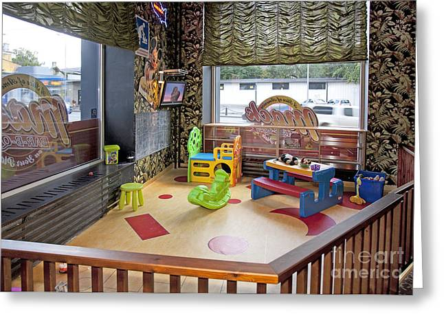 Play Pen At A Diner Greeting Card by Jaak Nilson