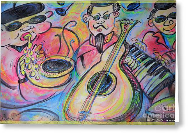 Play The Blues Greeting Card by M C Sturman