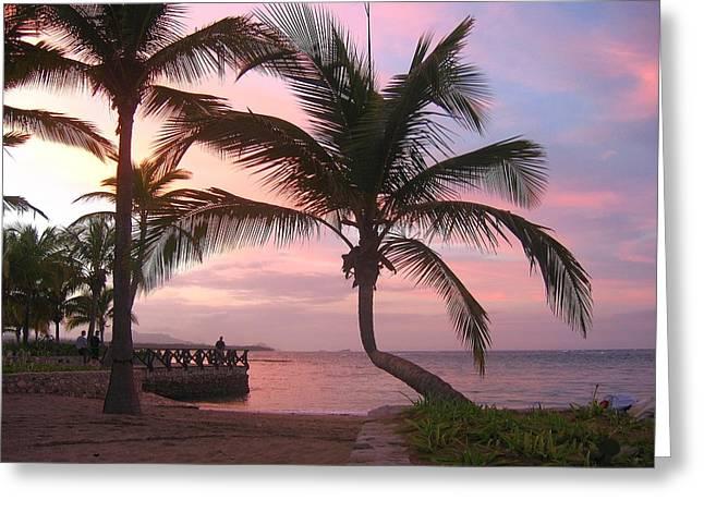 Playa Dorada Sunset 0681 Greeting Card