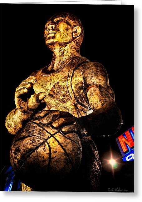 Player In Bronze Greeting Card by Christopher Holmes