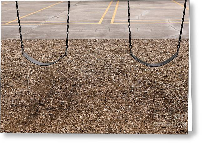 Playground Swings Greeting Card by Will & Deni McIntyre