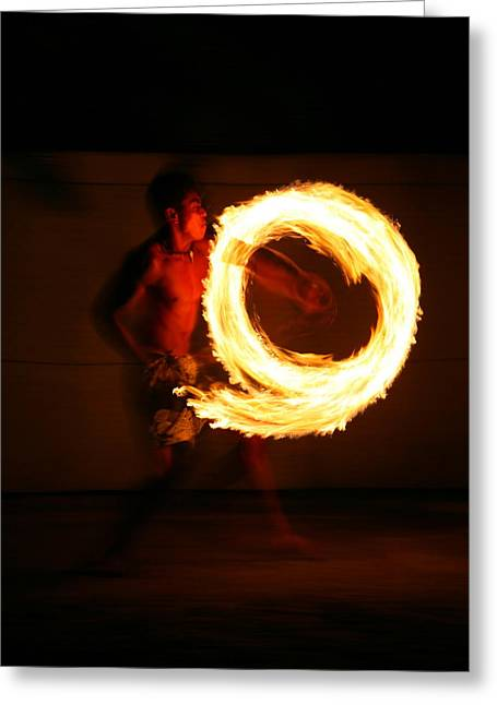 Playing With Fire Greeting Card by Bruce J Robinson