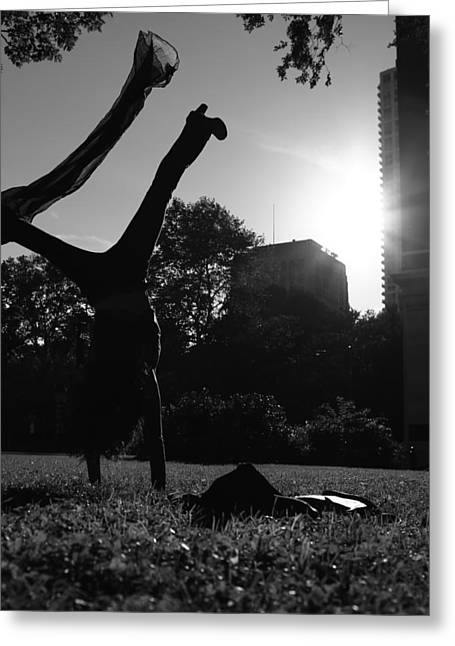 Playing With The Sun II - Philadelphia - Pensilvania - Sunset Greeting Card by Lee Dos Santos