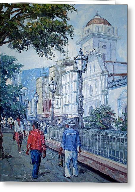 Plaza Bolivar Greeting Card