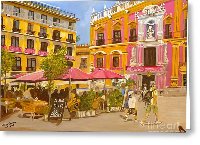 Plaza Malaga Greeting Card
