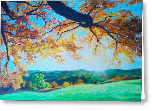 Pleasant Valley In Fall Greeting Card by Samuel McMullen