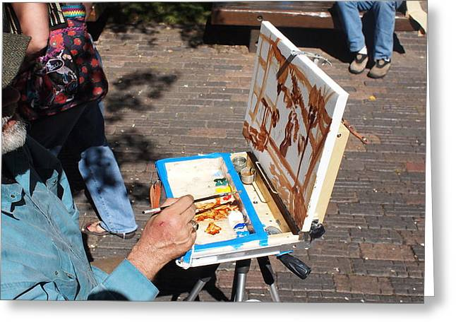 Plein Air At Aspen  Greeting Card