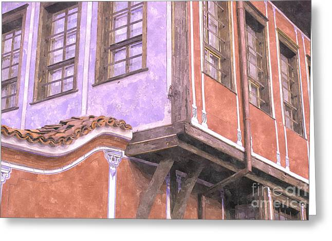 Plovdiv Old Town Greeting Card by Hristo Hristov