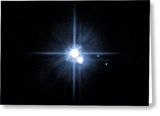 Pluto, Charon And New Moons, 2006 Greeting Card