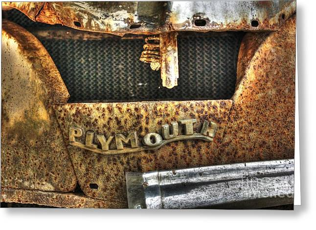Plymouth Logo Relic Greeting Card by Dan Stone