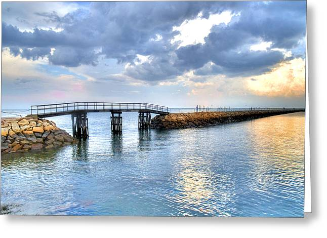 Plymouth Sunset Greeting Card by Tammy Wetzel