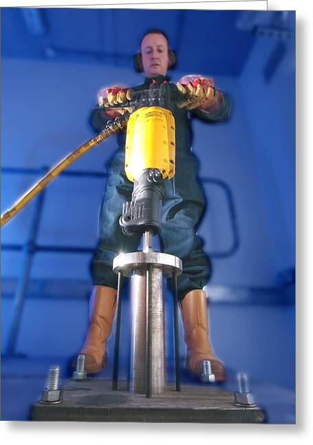 Pneumatic Drill Testing Greeting Card by Crown Copyrighthealth & Safety Laboratory