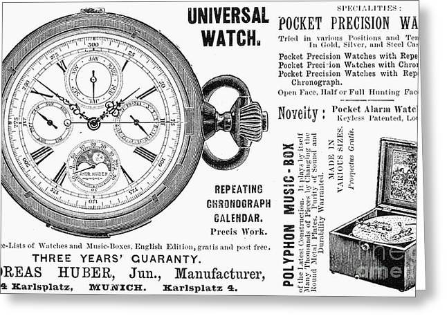 Pocket Watch, 1897 Greeting Card by Granger