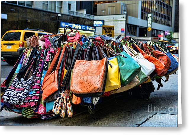Pocketbooks And Purses Greeting Card by Paul Ward