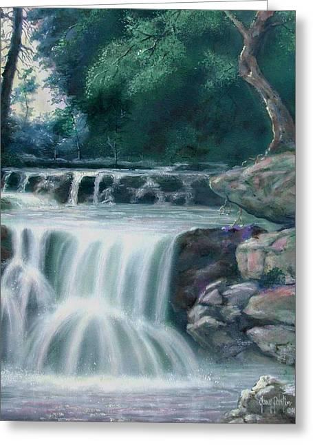 Pocono Mountains Waterfall Greeting Card
