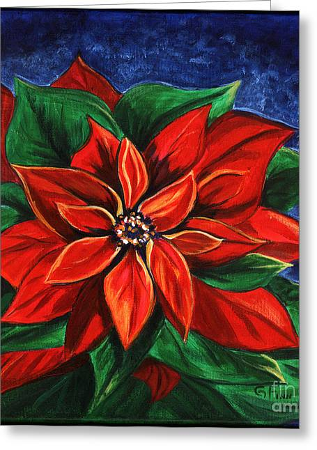 Poinsetta Greeting Card