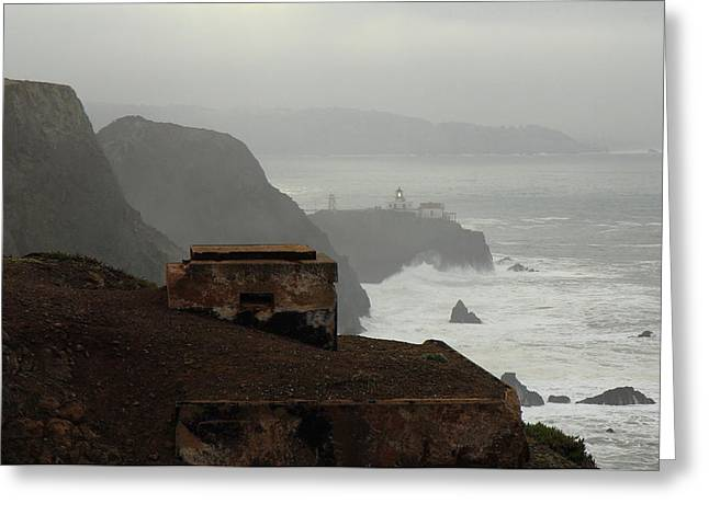 Greeting Card featuring the photograph Point Bonita Lighthouse And Battery by Scott Rackers