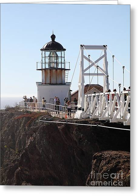 Point Bonita Lighthouse In The Marin Headlands - 5d19667 Greeting Card by Wingsdomain Art and Photography