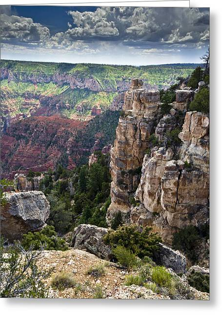 Point Imperial Cliffs Grand Canyon Greeting Card by Gary Eason
