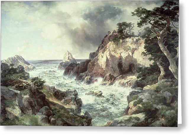 Point Lobos At Monterey In California Greeting Card by Thomas Moran