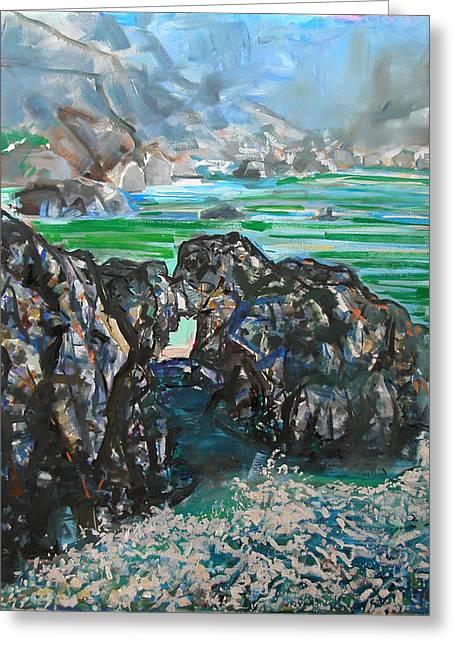 Point Lobos Window Rock Greeting Card by Zolita Sverdlove