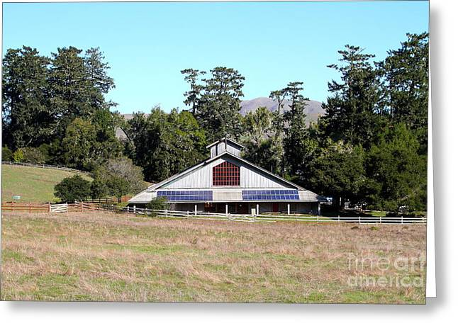 Point Reyes Visitors Center In Point Reyes California . 7d9788 Greeting Card by Wingsdomain Art and Photography