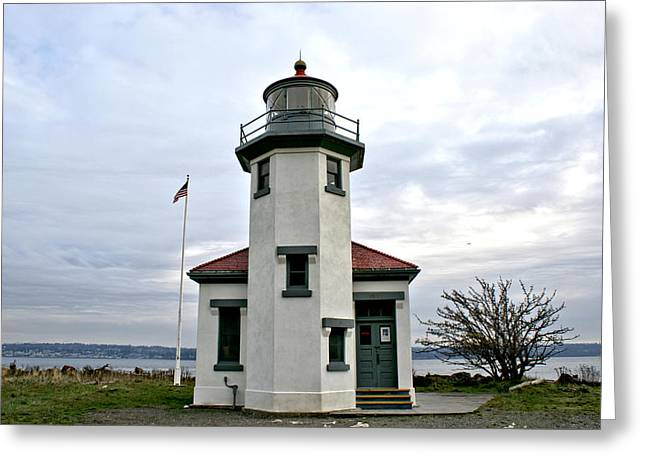 Point Robbinson Light Houe  Greeting Card