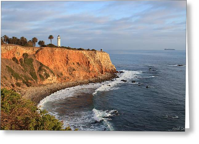 Point Vicente Lighthouse Greeting Card by Heidi Smith