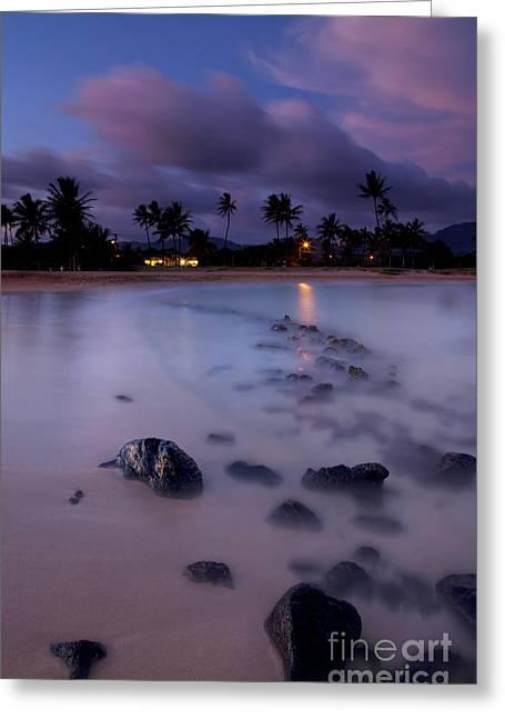 Poipu Evening Storm Greeting Card by Mike  Dawson