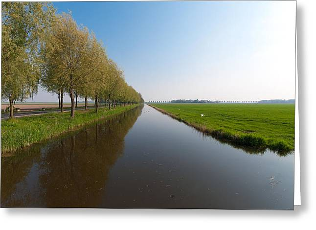 Greeting Card featuring the photograph Polder Ditch by Hans Engbers