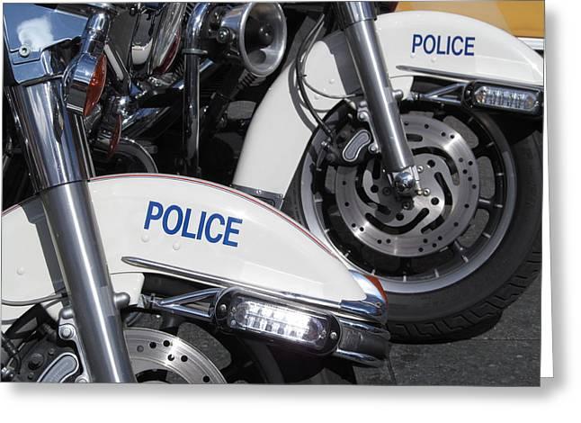Police Wheels Greeting Card by Alfred Ng