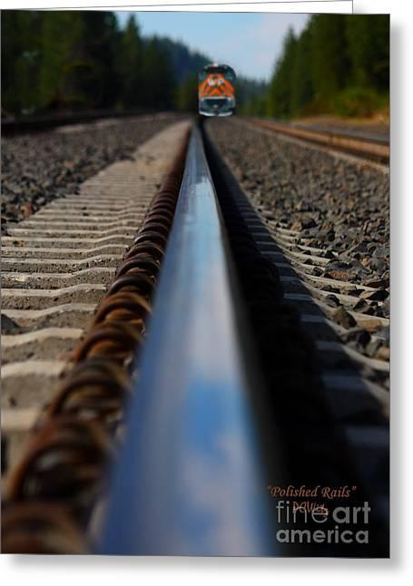 Polished Rails Greeting Card