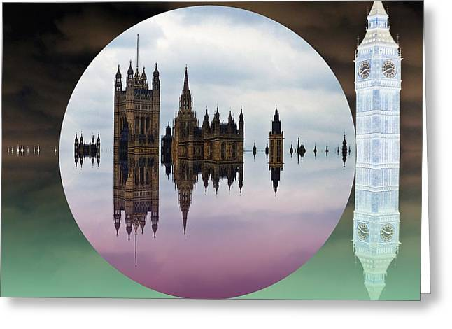 Political Bubble Greeting Card by Sharon Lisa Clarke