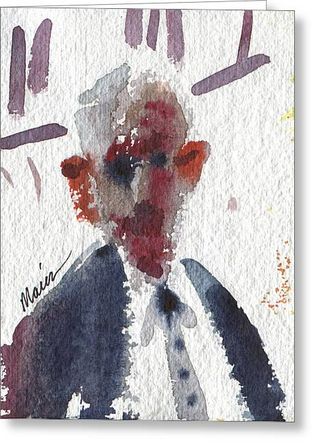 Politician Greeting Card by Donald Maier