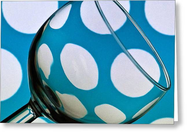 Greeting Card featuring the photograph Polka Dot Glass by Steve Purnell