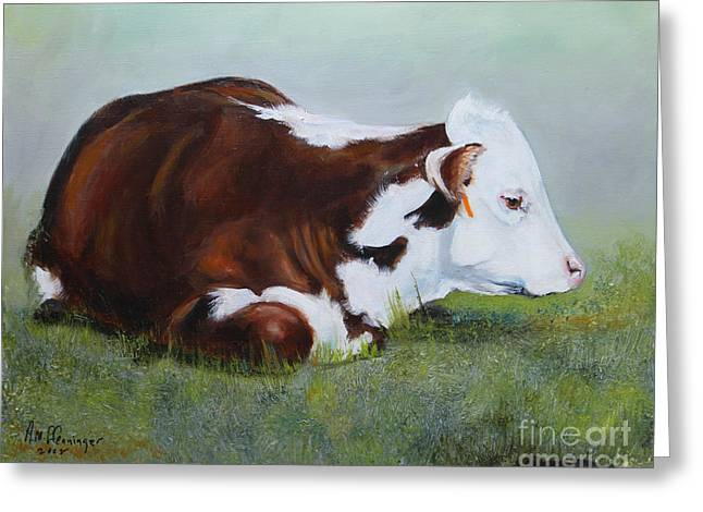 Polled Hereford Baby Greeting Card