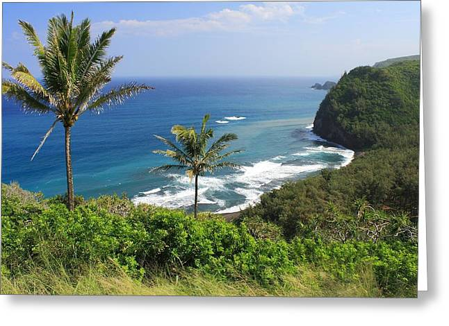Greeting Card featuring the photograph Pololu Valley by Scott Rackers