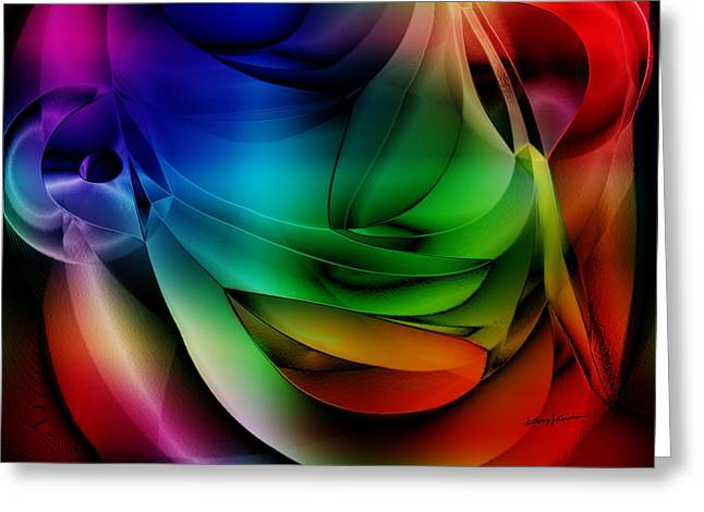 Polychromatic Abstract Greeting Card by Anthony Caruso