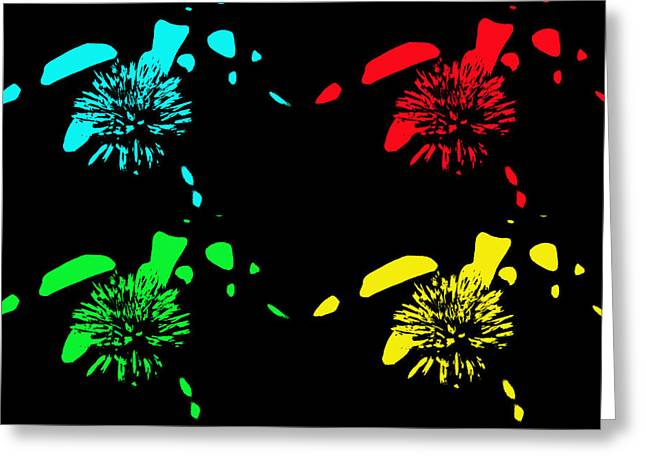 Pom Pom Pop Art Greeting Card by Aimee L Maher Photography and Art Visit ALMGallerydotcom