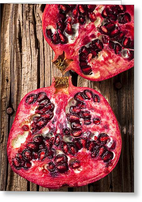 Pomegranate Greeting Card by Garry Gay