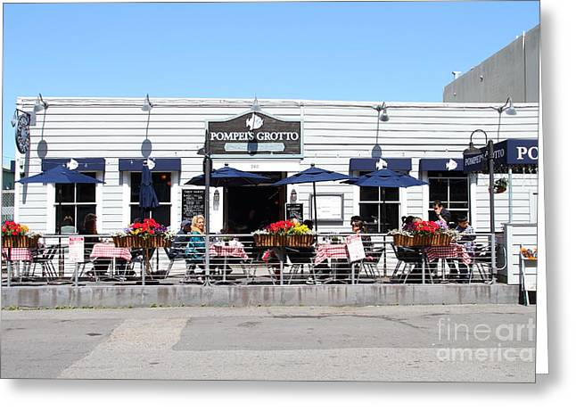 Pompeis Grotto Restaurant . Fishermans Wharf . San Francisco California . 7d14197 Greeting Card by Wingsdomain Art and Photography