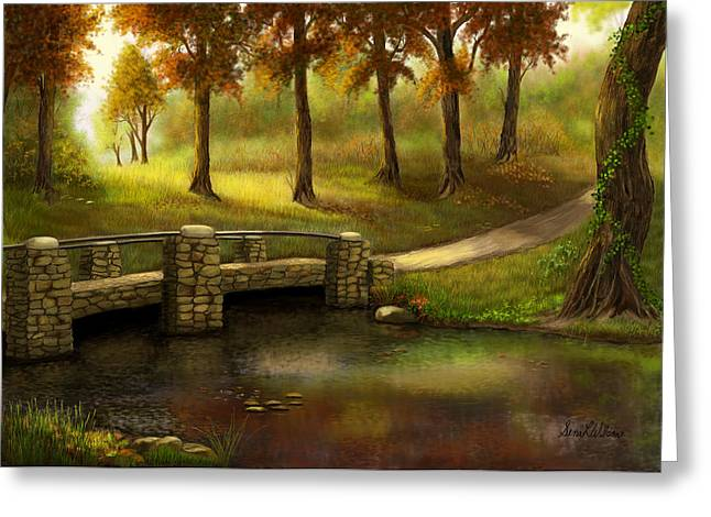 Pond Crossing Greeting Card