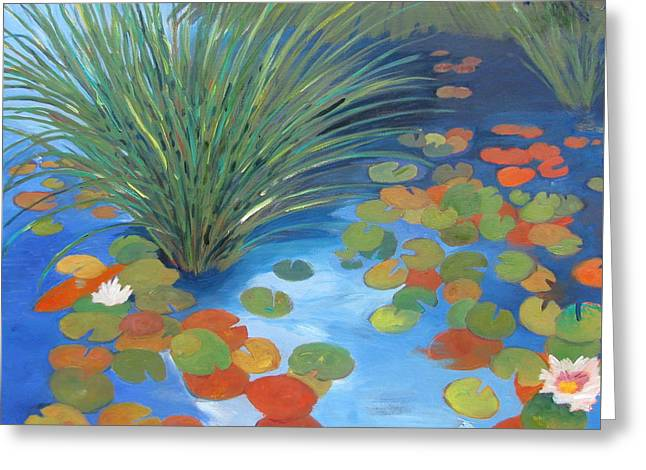 Pond Revisited Greeting Card by Gary Coleman