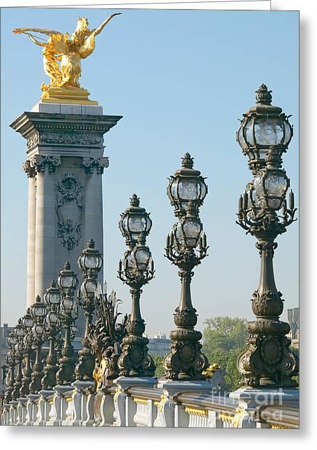 Pont Alexander IIi Detail Greeting Card