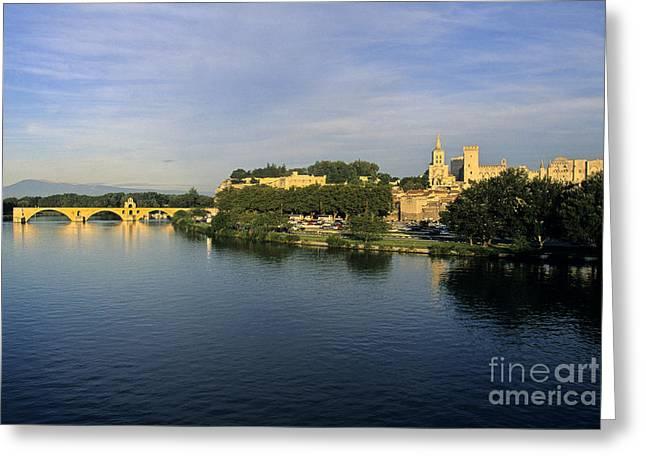 Pont D'avignon Et Palais Des Papes. Greeting Card