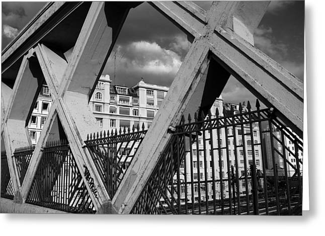 Pont Lafayette Paris Greeting Card by Andrew Fare