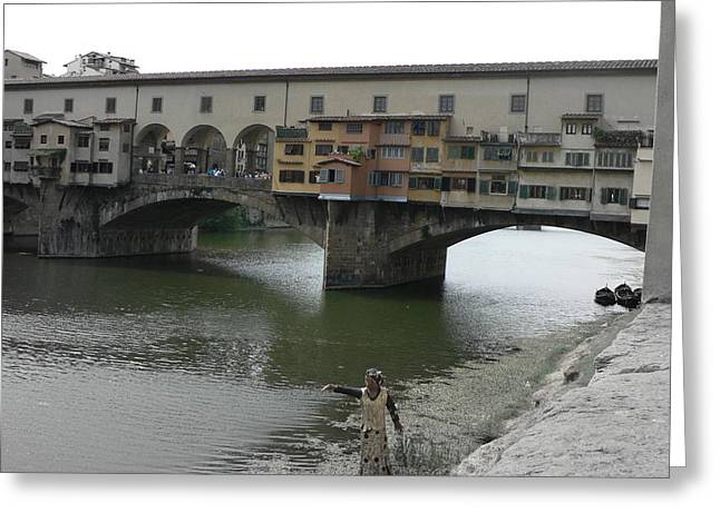 Greeting Card featuring the photograph Ponte Vecchio by Laurel Best